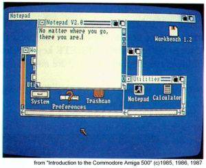 Page from the Amiga 500 manual