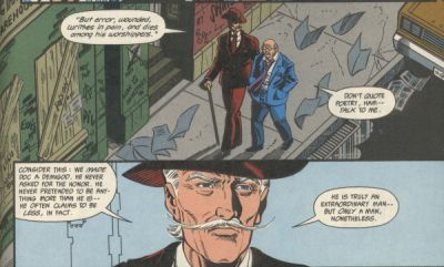 Panel from Doc Savage #3 by DC comics - written by Dennis O'Neil / art by Andy and Adam Kubert
