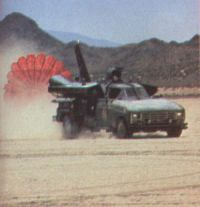 Jetcar with chute deployed